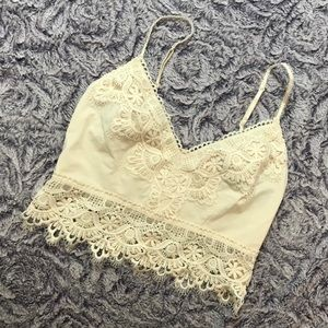 Boho crochet lace crop top Bralette Billabong
